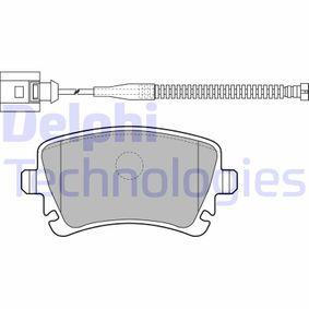 DELPHI  LP1860 Bremsbelagsatz, Scheibenbremse Höhe: 59mm, Dicke/Stärke 1: 18mm