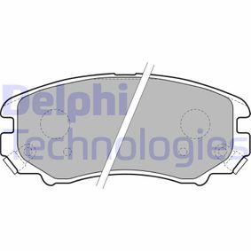 Bremsbelagsatz, Scheibenbremse Breite 1: 132mm, Breite 2: 132mm, Höhe 1: 60mm, Höhe 2: 60mm, Dicke/Stärke 1: 17mm, Dicke/Stärke 2: 17mm mit OEM-Nummer 58101-3C-A20