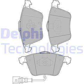 Bremsbelagsatz, Scheibenbremse Höhe: 73mm, Dicke/Stärke 2: 20mm mit OEM-Nummer 1K0 698 151 B