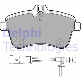 Brake Pad Set, disc brake Height 2: 70mm, Height: 70mm, Thickness 1: 20mm, Thickness 2: 20mm with OEM Number A16 942 00120