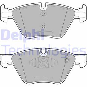 DELPHI  LP1960 Bremsbelagsatz, Scheibenbremse Höhe: 63,27mm, Dicke/Stärke 1: 20,3mm