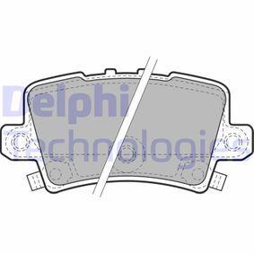 fékbetét készlet, tárcsafék hátsótengely LP1971