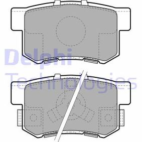 Brake Pad Set, disc brake LP1972 CR-V 2 (RD) 2.0 (RD4) MY 2003