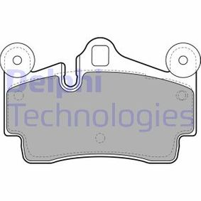 DELPHI Bremsbelagsatz, Scheibenbremse LP1998 für AUDI Q7 (4L) 3.0 TDI ab Baujahr 11.2007, 240 PS