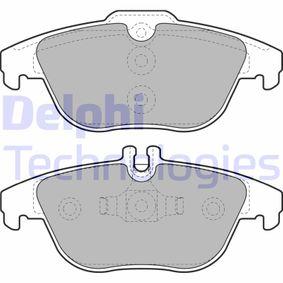 2012 Mercedes W204 C 200 CDI 2.2 (204.001) Brake Pad Set, disc brake LP2029