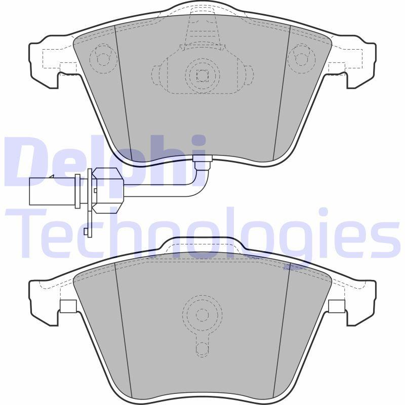 DELPHI  LP2032 Bremsbelagsatz, Scheibenbremse Höhe: 73mm, Dicke/Stärke 1: 20mm