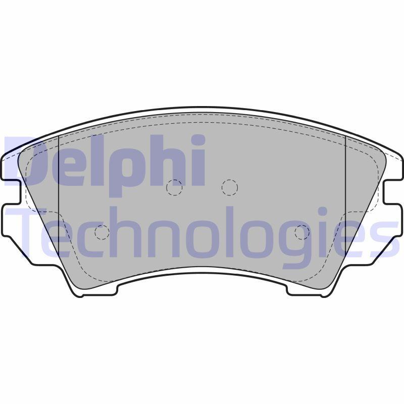 DELPHI  LP2081 Brake Pad Set, disc brake Height 2: 67mm, Height: 67mm, Thickness 1: 19mm, Thickness 2: 19mm