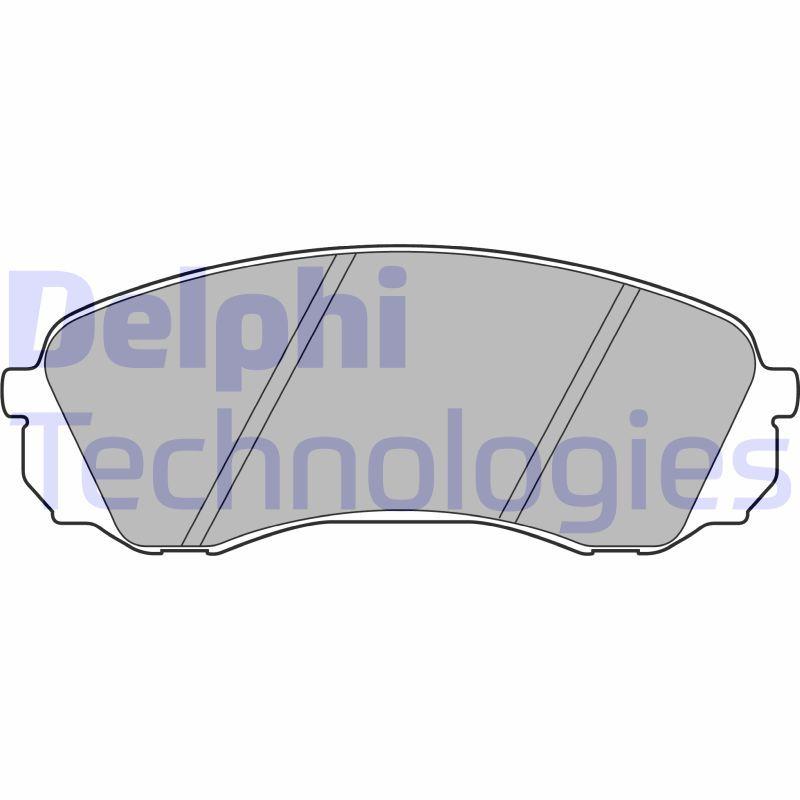 DELPHI  LP2094 Bremsbelagsatz, Scheibenbremse Höhe: 63mm, Dicke/Stärke 1: 18mm