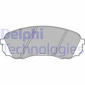 Bremsbelagsatz, Scheibenbremse Höhe: 63mm, Dicke/Stärke 2: 18mm mit OEM-Nummer 581014DA00