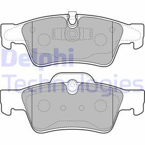 Комплект спирачно феродо, дискови спирачки LP2124 M-класа (W164) ML 320 CDI 3.0 4-matic (164.122) Г.П. 2005