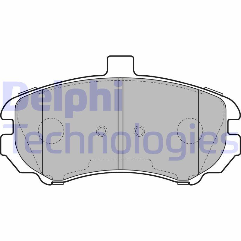 DELPHI  LP2150 Bremsbelagsatz, Scheibenbremse Höhe 2: 70mm, Höhe: 70mm, Dicke/Stärke 1: 17mm, Dicke/Stärke 2: 17mm