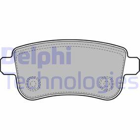 Bremsbelagsatz, Scheibenbremse LP2153 MEGANE 3 Coupe (DZ0/1) 2.0 R.S. Bj 2015