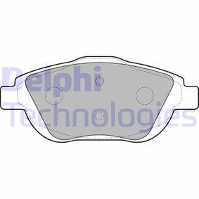 Brake Pad Set, disc brake LP2164 C3 Picasso 1.6 HDi MY 2019