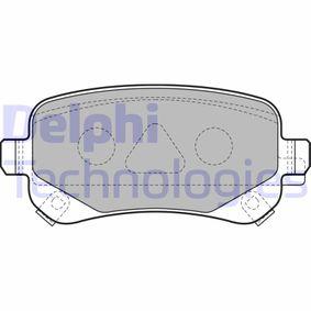 Bremsbelagsatz, Scheibenbremse Höhe: 53mm, Dicke/Stärke 2: 17mm mit OEM-Nummer K6802-9887-AA
