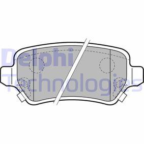 Brake Pad Set, disc brake LP2188 Astra Mk5 (H) (A04) 1.6 MY 2005