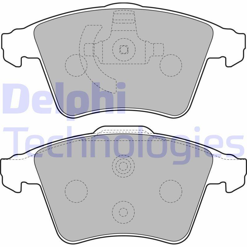 DELPHI  LP2224 Bremsbelagsatz, Scheibenbremse Höhe 2: 75mm, Höhe: 73mm, Dicke/Stärke 1: 20mm