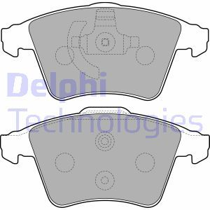 DELPHI  LP2224 Bremsbelagsatz, Scheibenbremse Höhe 2: 75mm, Höhe: 73mm, Dicke/Stärke 1: 20mm, Dicke/Stärke 2: 20mm