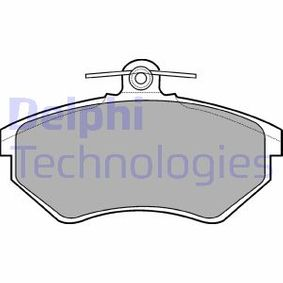 DELPHI Bremsbelagsatz, Scheibenbremse LP770 für AUDI 80 Avant (8C, B4) 2.0 E 16V ab Baujahr 02.1993, 140 PS