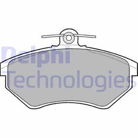Bremsbelagsatz, Scheibenbremse Höhe 2: 69mm, Höhe: 69mm, Dicke/Stärke 1: 16mm, Dicke/Stärke 2: 16mm mit OEM-Nummer 1HM 698 151 A
