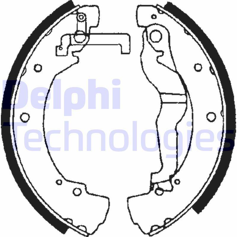 DELPHI  LS1656 Bremsbackensatz Breite: 55mm