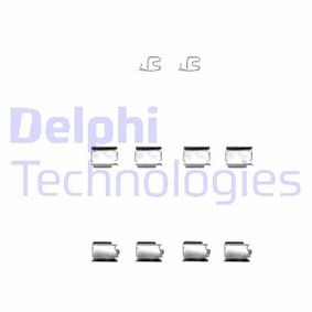 DELPHI  LX0343 Zubehörsatz, Scheibenbremsbelag