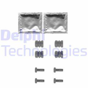 DELPHI Zubehörsatz, Scheibenbremsbelag LX0355 für AUDI 80 (8C, B4) 2.8 quattro ab Baujahr 09.1991, 174 PS
