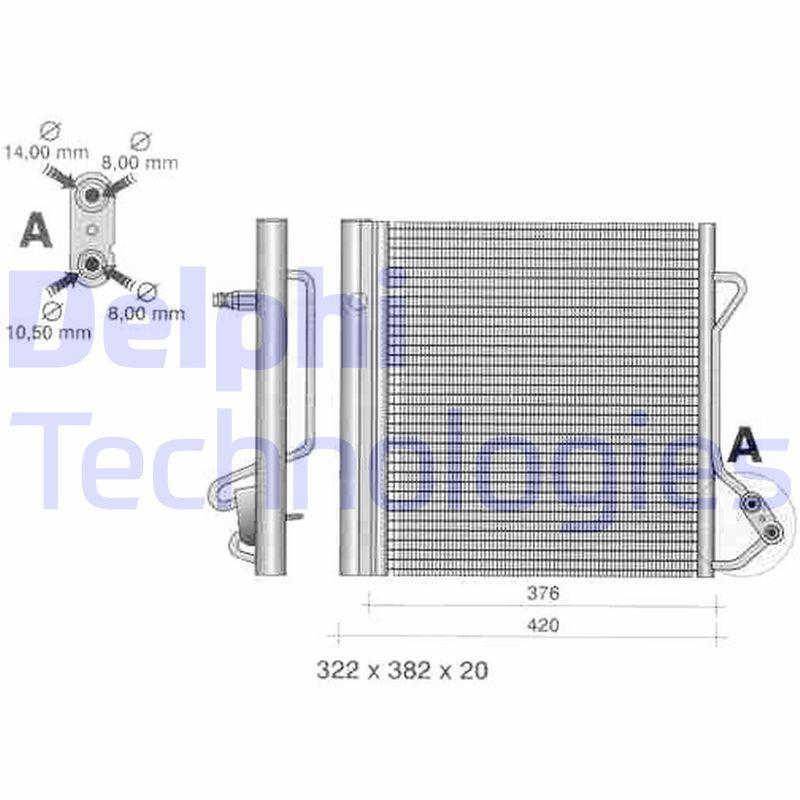 DELPHI  TSP0225320 Kondensator, Klimaanlage