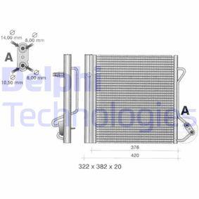 Kondensator, Klimaanlage mit OEM-Nummer 000 163 2V00 3