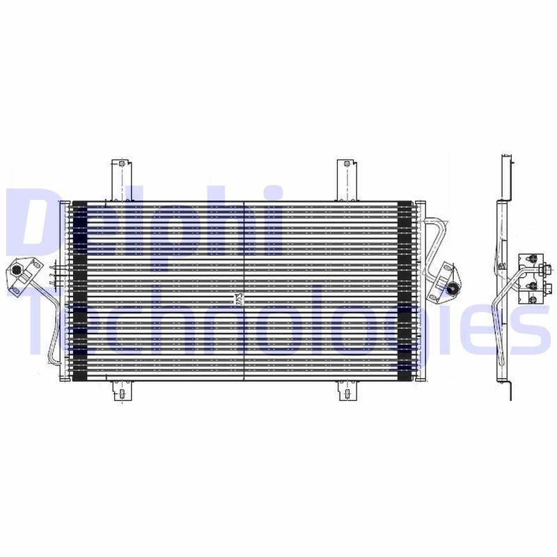 DELPHI  TSP0225535 Kondensator, Klimaanlage