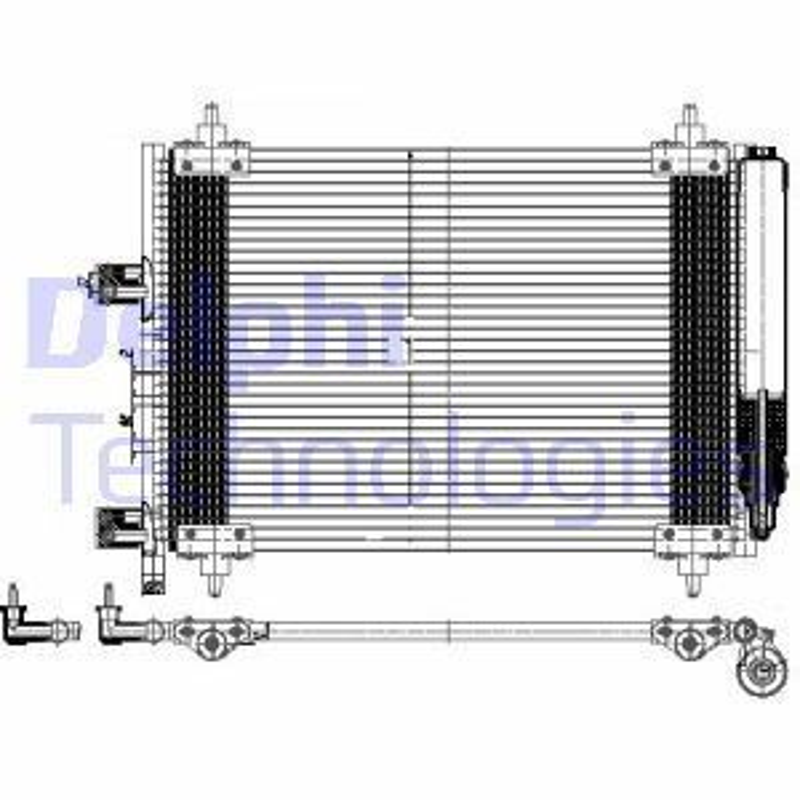 DELPHI  TSP0225537 Kondensator, Klimaanlage