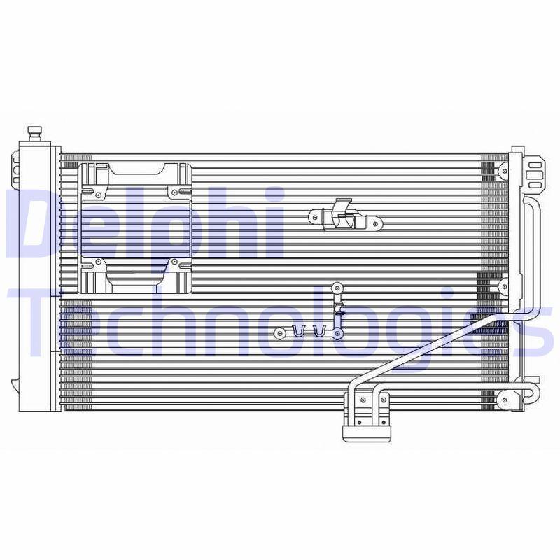 DELPHI  TSP0225610 Kondensator, Klimaanlage