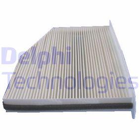 Filter, Innenraumluft Länge: 215mm, Breite: 268mm, Höhe: 32mm mit OEM-Nummer 1K1819653
