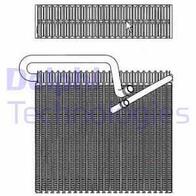 DELPHI Evaporador, ar condicionado TSP0525148