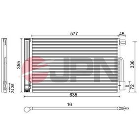 Kondensator, Klimaanlage mit OEM-Nummer 51931470