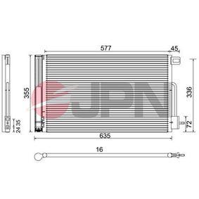 Kondensator, Klimaanlage mit OEM-Nummer 13400150