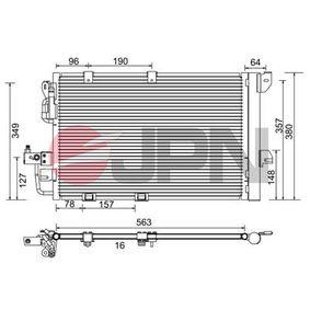 Kondensator, Klimaanlage Kältemittel: R 134a mit OEM-Nummer 24 43 1901