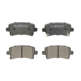 Brake Pad Set, disc brake Width: 106,4mm, Height: 47,4mm, Thickness: 17,3mm with OEM Number 1605319