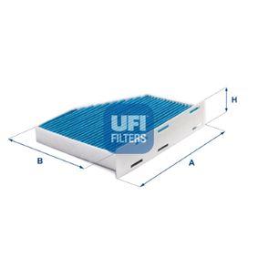 Filter, Innenraumluft Länge: 288mm, Breite: 215mm, Höhe: 34mm mit OEM-Nummer 1K1819653 B
