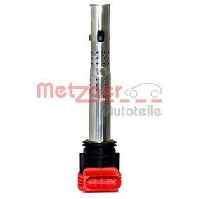 METZGER Zündspule 0880126 für AUDI A4 Cabriolet (8H7, B6, 8HE, B7) 3.2 FSI ab Baujahr 01.2006, 255 PS