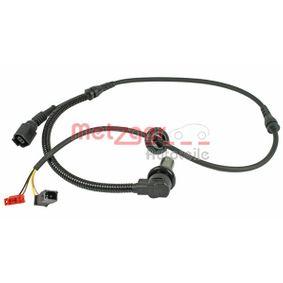 Sensoren VW PASSAT Variant (3B6) 1.9 TDI 130 PS ab 11.2000 METZGER Sensor, Raddrehzahl (0900065) für