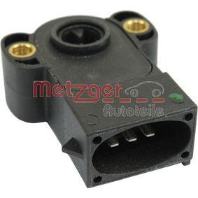 METZGER Sensor, Drosselklappenstellung 0904015 für FORD ESCORT VI Stufenheck (GAL) 1.4 ab Baujahr 08.1993, 75 PS