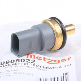 METZGER Kühlmitteltemperatur-Sensor 0905022 für AUDI Q7 (4L) 3.0 TDI ab Baujahr 11.2007, 240 PS