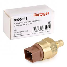 METZGER Kühlmitteltemperatur-Sensor 0905038 für AUDI 80 Avant (8C, B4) 2.0 E 16V ab Baujahr 02.1993, 140 PS