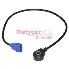 METZGER Klopfsensor 0907014 für AUDI 80 Avant (8C, B4) 2.0 E 16V ab Baujahr 02.1993, 140 PS