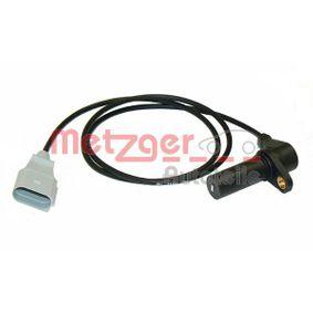 METZGER Drehzahlsensor, Motormanagement 0909007 für AUDI A4 (8E2, B6) 1.9 TDI ab Baujahr 11.2000, 130 PS