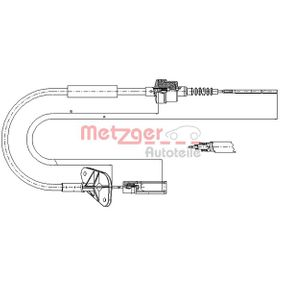 Clutch Cable 12.7201 PANDA (169) 1.2 MY 2004
