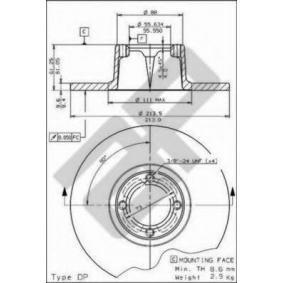METZGER  14343 Bremsscheibe Bremsscheibendicke: 9,5mm, Lochanzahl: 4, Ø: 213mm
