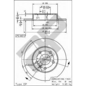 Bremsscheibe Bremsscheibendicke: 10mm, Lochanzahl: 5, Ø: 264mm, Ø: 264mm mit OEM-Nummer 917772