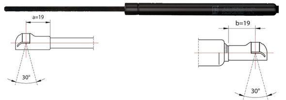 METZGER  2110088 Heckklappendämpfer / Gasfeder Länge: 305,5mm, Hub: 121mm