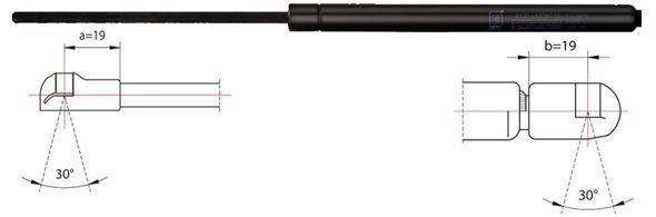 METZGER  2110090 Gasfjäder, bagageutrymme L: 500mm, Slaglängd: 200mm, L: 500mm